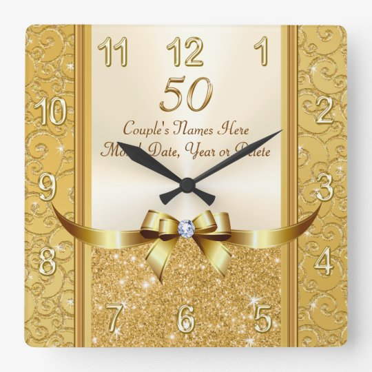 Wedding Gift Ideas Uk: Personalised 50th Wedding Anniversary Gifts, Clock