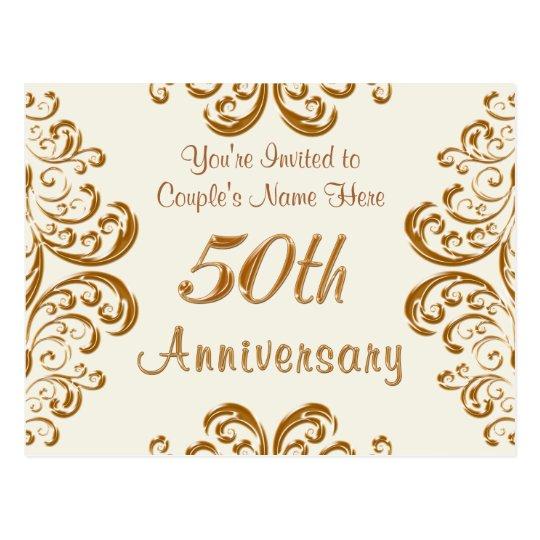 Personalised 50th Wedding Anniversary Invitations