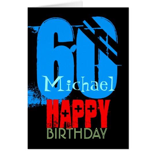 Personalised 60th Birthday Greeting Card
