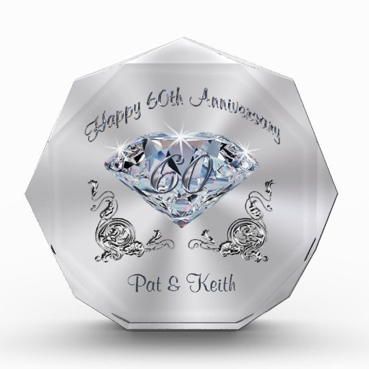 Personalised 60th Wedding Anniversary Gift Ideas Zazzle Co Uk