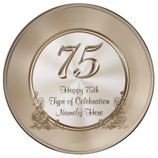 Personalised 75th Birthday Ideas For Mum Or Wife Plate