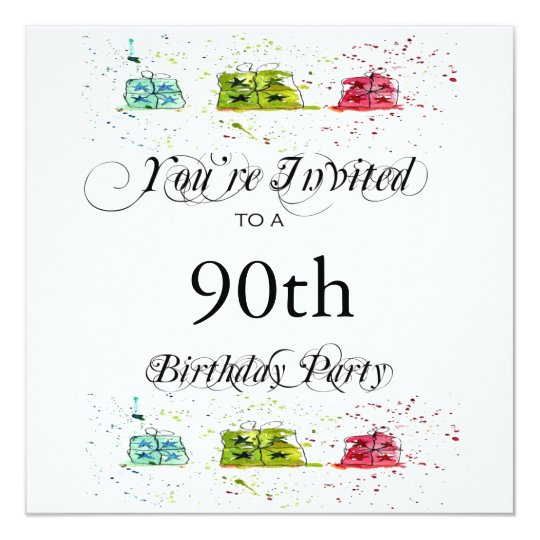 Personalised 90th Birthday Party Invitations
