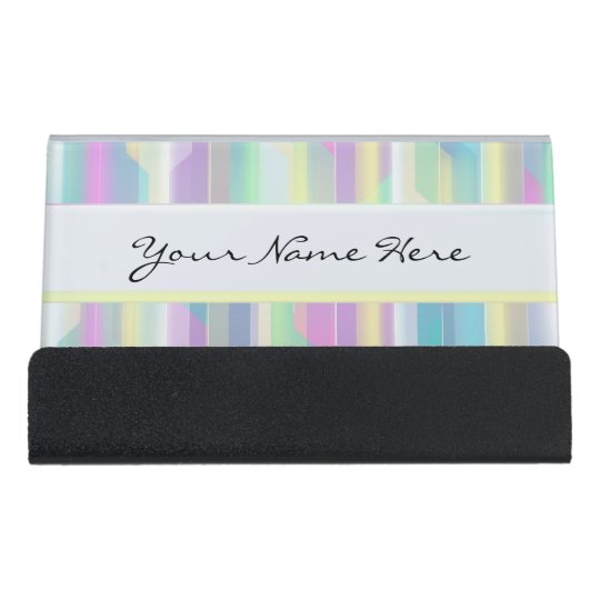 Personalised Abstract Beautiful Rainbow Pastels Desk Business