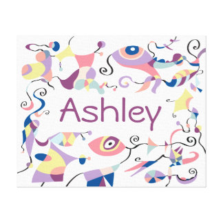 Personalised Abstract Canvas for Child's Room