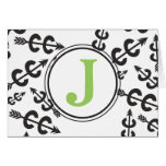 Personalised Abstract Cross Country Arrow Monogram