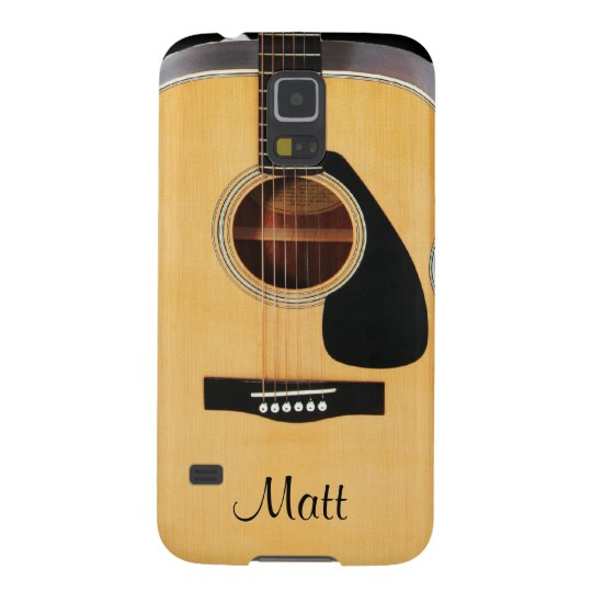 Personalised Acoustic Guitar Music Galaxy S5 Case