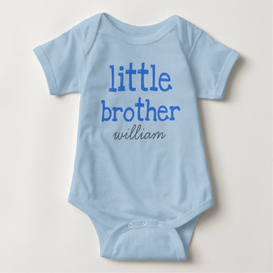 Personalised Add a Name Blue Text Little Brother