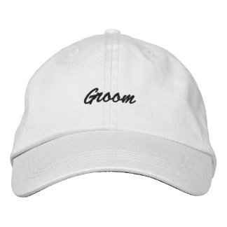 Personalised Adjustable Groom Hat Embroidered Baseball Cap