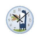 Personalised Adorable Dinosaur Kids Clock