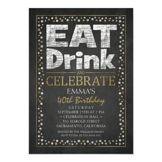 Personalised Adult 40th Birthday Party Invitations