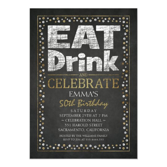 Personalised Adult 50th Birthday Party Invitations