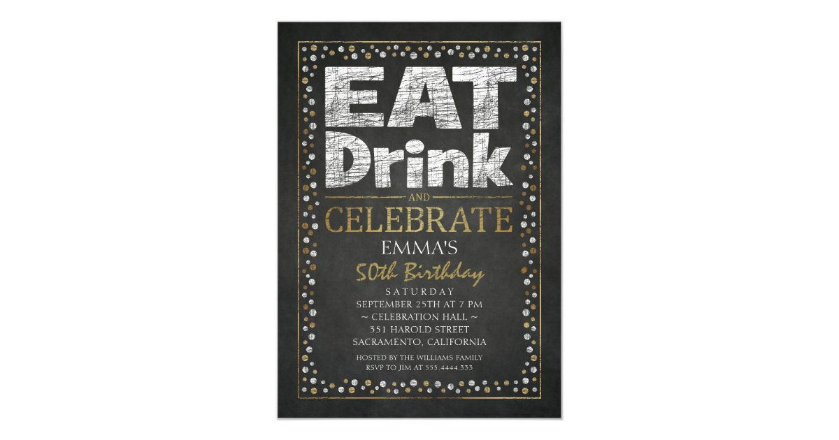 Personalised adult 50th birthday party invitations zazzle stopboris Images