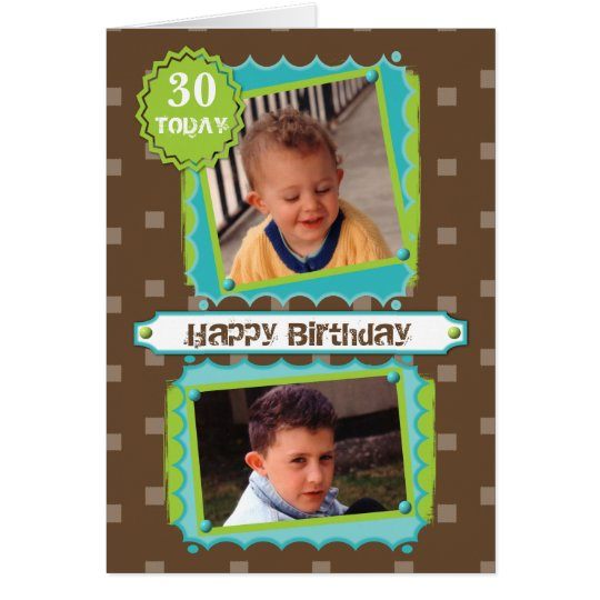 Personalised age male Photo Birthday Card