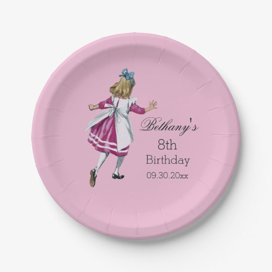 Personalised Alice in Wonderland Birthday Party 7 Inch