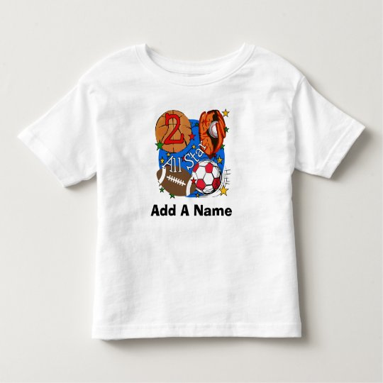 Personalised All Star Sports 2nd Birthday Tshirt
