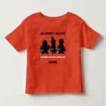 Personalised Allergy Alert Halloween Teal Pumpkin Toddler T-Shirt