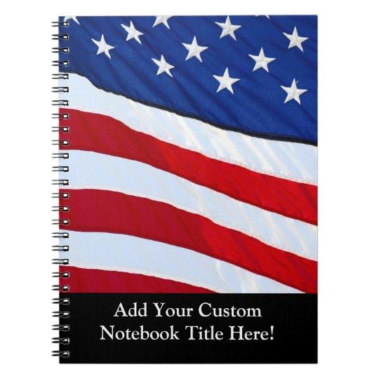 Personalised American Flag Patriotic Journal