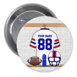 Personalised American Football Grid Iron WRB Pin