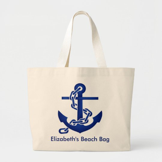 Personalised Anchor Beach Bag