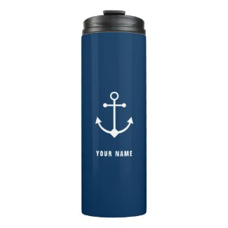 Personalised Anchor Thermal Tumbler