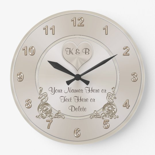 Personalised and Unique Bridal Shower Gifts CLOCK