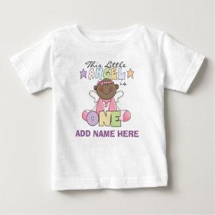 Personalised Angel Girl 1st Birthday Tshirt