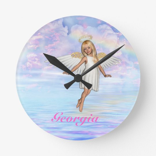 Personalised Angel Sky Wall Clock