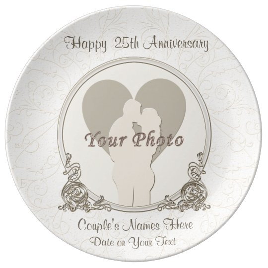Personalised Anniversary Gifts for Parents Plate