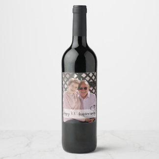 Personalised Anniversary Wine Bottle Labels