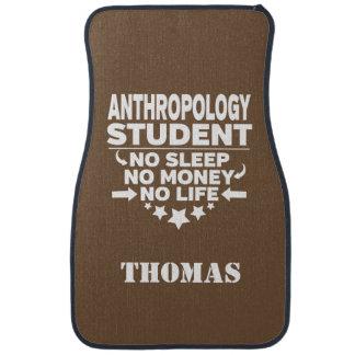 Personalised Anthropology Student No Sleep Money Car Mat
