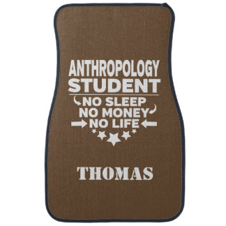 Personalised Anthropology Student No Sleep Money Floor Mat