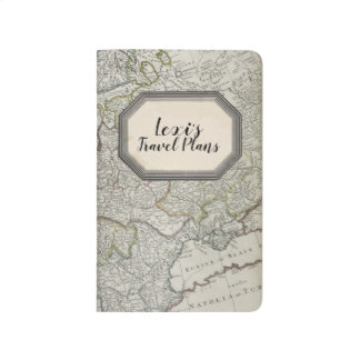 Personalised Antique Travel Pocket Notebook