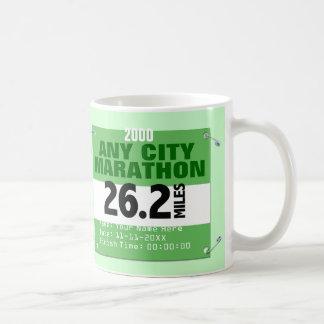 Personalised Any City Marathon, 26.2 Miles Race Basic White Mug