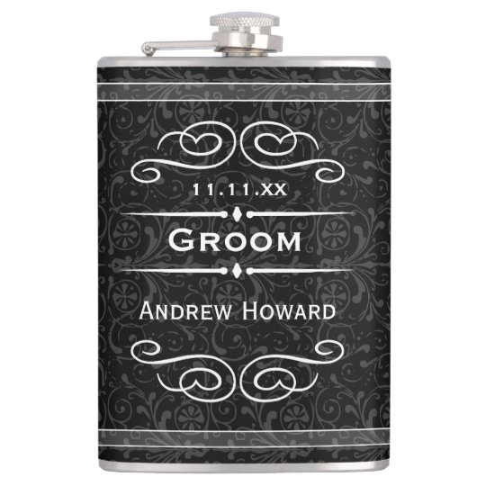 Personalised Any Colour Vintage Groom Wedding Date Hip