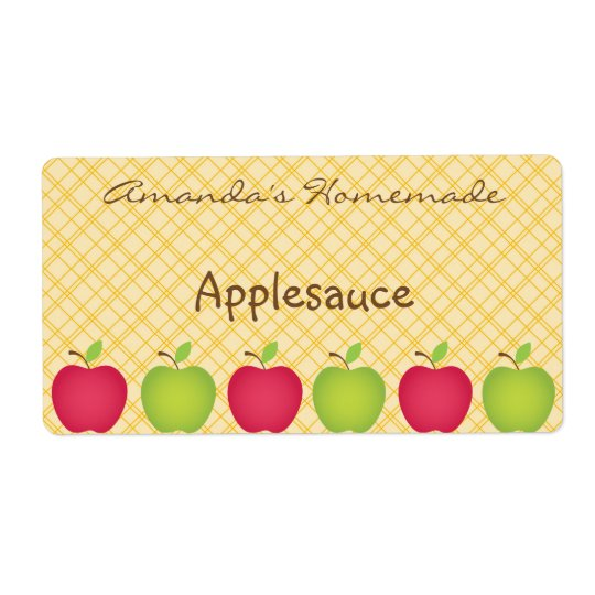 Personalised Apple Themed Canning Label Shipping Label