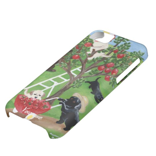 Personalised Apple Tree Labradors iPhone 5C Case