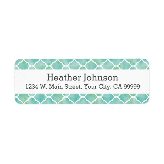 Personalised Aqua Green Quatrefoil Pattern