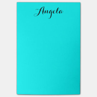 Personalised Aqua Sticky Notes
