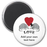 Personalised Armadillo Love Magnet