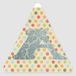 Personalised Art Letter A Triangle Stickers