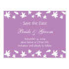 Personalised Autumn Leaves Save the Date Postcard
