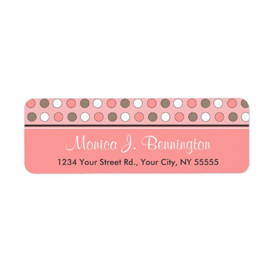 Personalised Avery Pink Polka Dot Address Labels