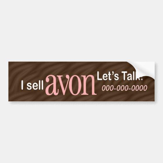 Personalised Avon Bumper Sticker