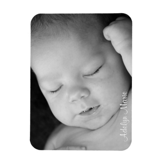 Personalised Baby Announcement Photo Magnet