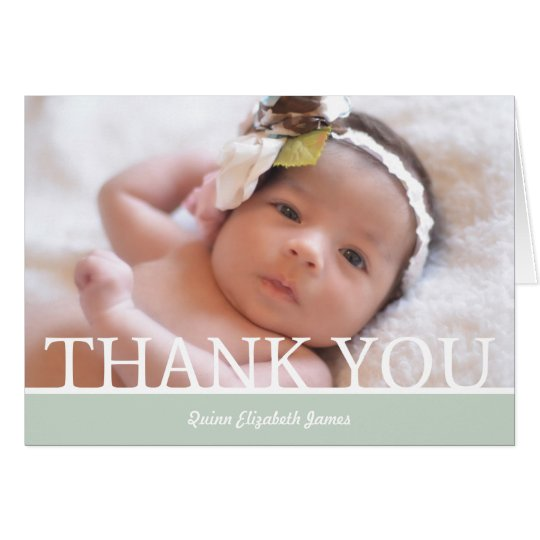 "Personalised Baby Girl Thank You Card - 5"" x 7"""