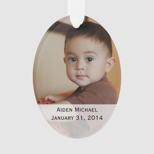 Personalised Baby Photos Ornament