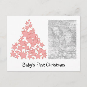 Personalised Baby's First Christmas Holiday Card