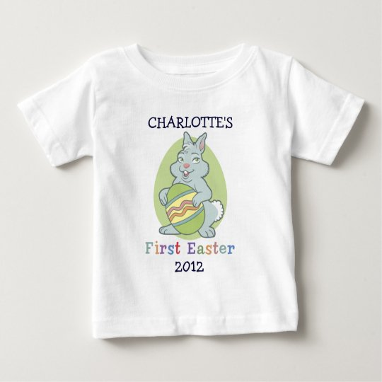 Personalised Baby's First Easter Baby T-Shirt