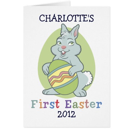 Personalised Baby's First Easter Note Card