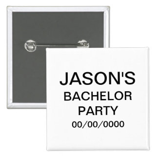 Personalised Bachelor Party 15 Cm Square Badge